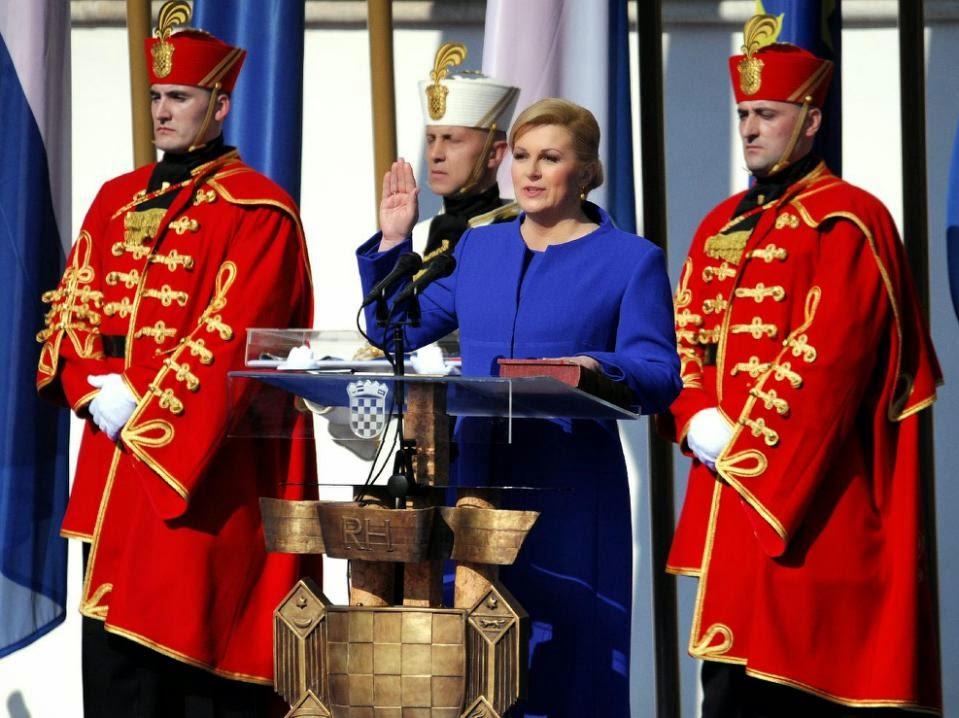 Croatia's first female president sworn in