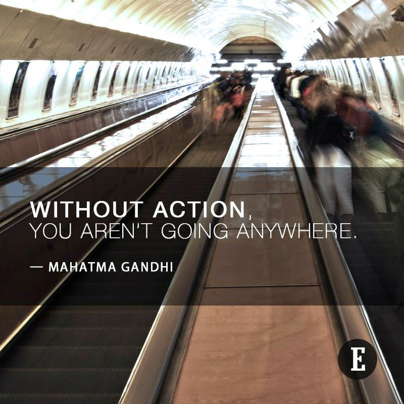 Quote by Gandhi: Action
